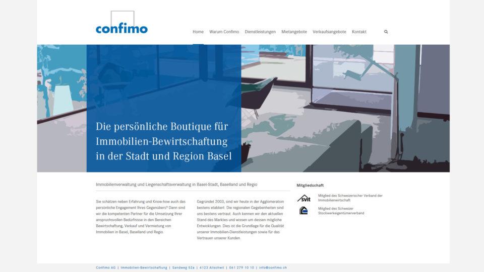 Webdesign Basel für confimo.ch