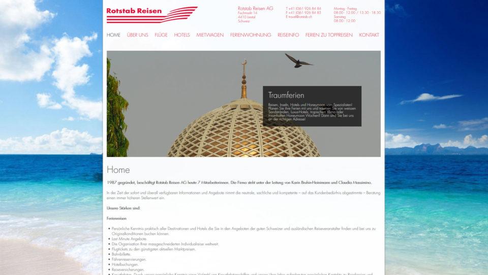 Webdesign Basel Land für Rotstab.ch