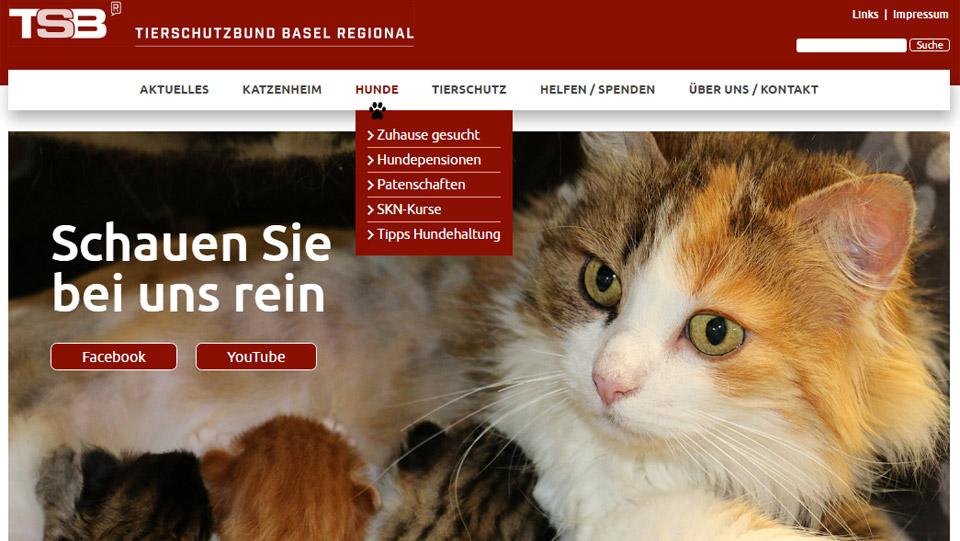 Webdesign Basel für Tierschutzbund beider Basel