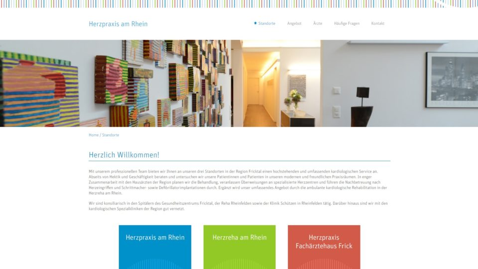 Webdesign Basel für dasherz.ch